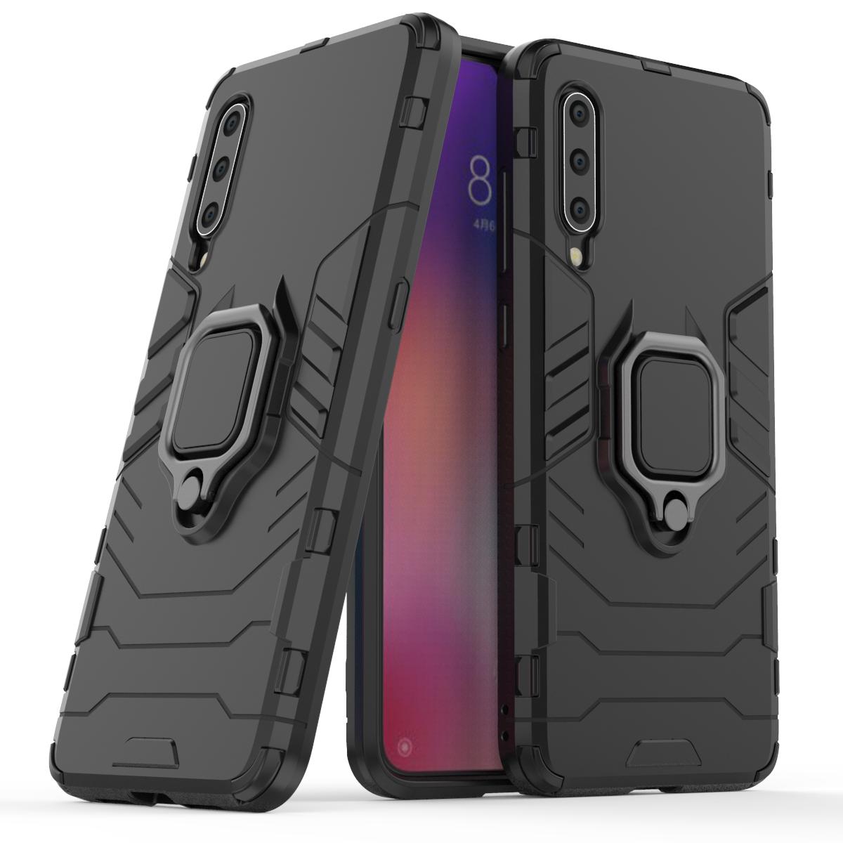Bakeey Armor Soporte de tarjeta magnética a prueba de golpes Caso para Xiaomi Mi 9/Mi9 Edición transparente