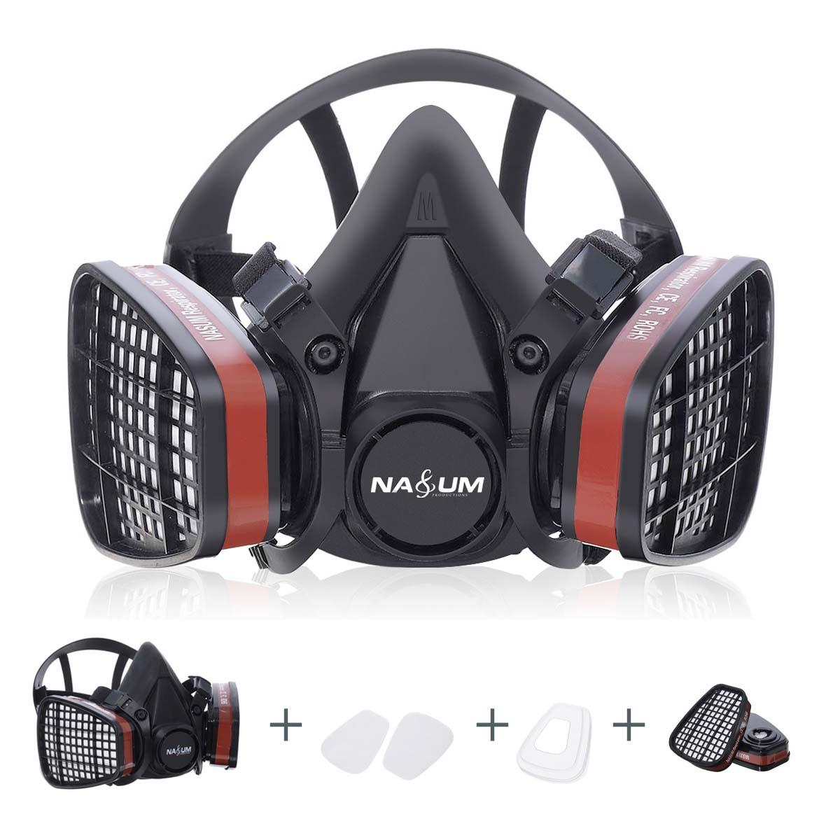 Half Face Gas Mask Respirator Painting Spraying Safety Work Filter Dust Mask