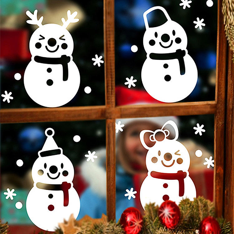 Miico DLX9206 Christmas Sticker Window Snowman Pattern Wall Stickers For Room Decoration