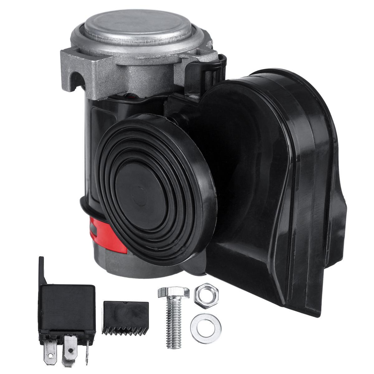 24V 139dB Compresseur de pompe à trompette électrique à double ton électrique Super Loud pour moto de camion de voiture