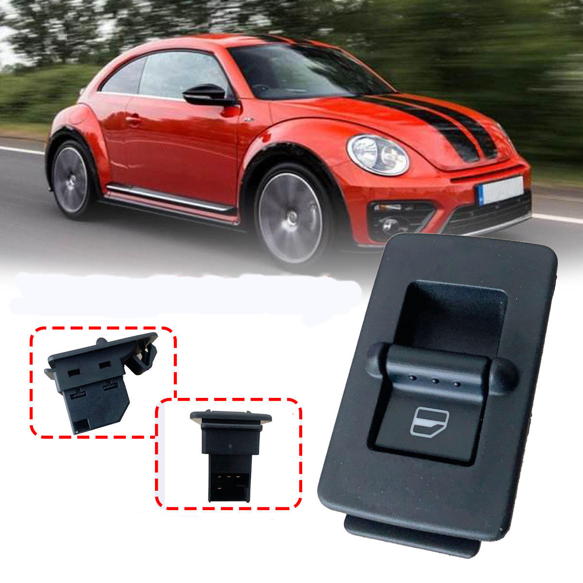 Right Side Window Switch for the Passenger For Volkswagen Beetle 1998-2010 1C0959851 1C0959855 1C0959527