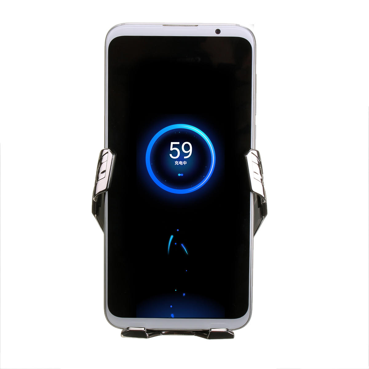 QI Wireless Fast Car Charger 10W Vehicle Charger Car Phone Holder Black