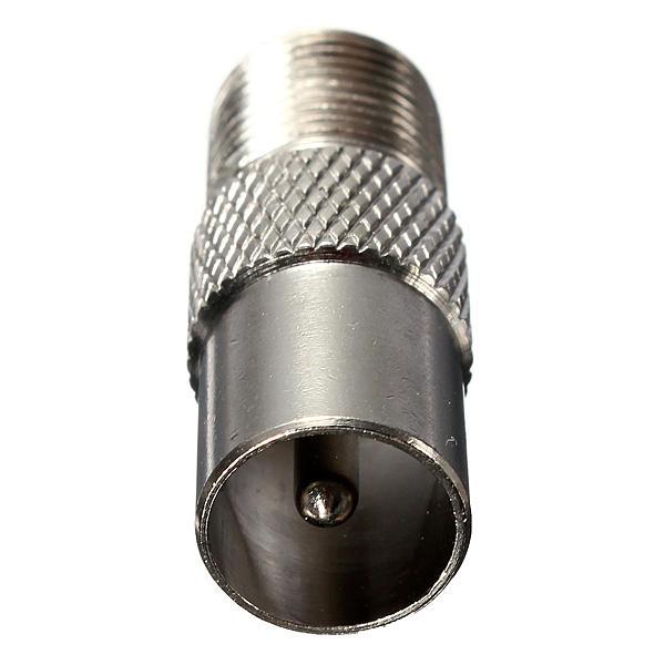 Tipo de f plata tapón de rosca hembra a adaptador de conector macho rf aérea tv