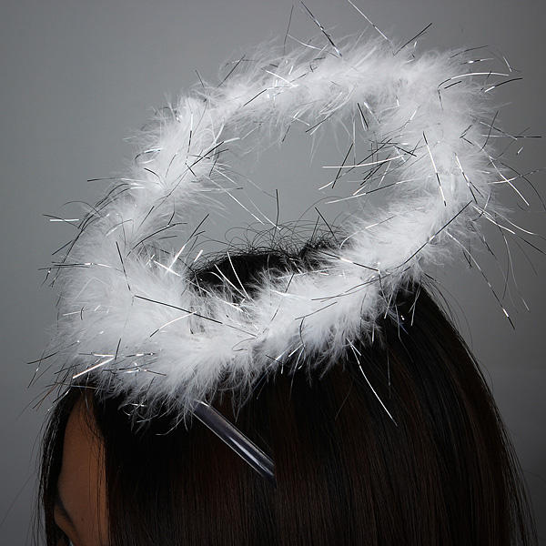 Angel Feather Halo Ring Headbrand Party Costume Dress