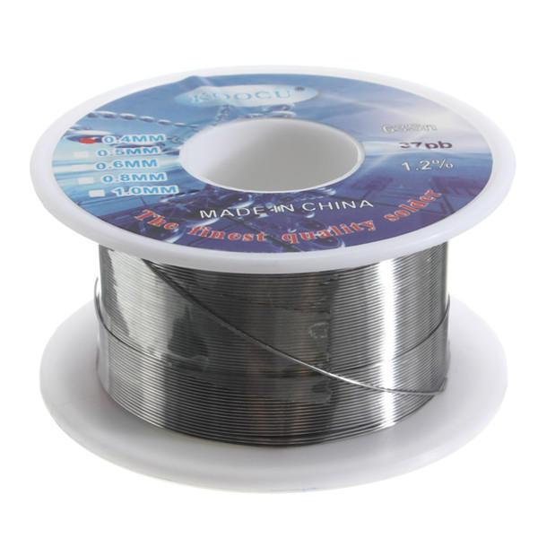 0.4mm 63/37 Zinn Blei Lot Draht Harz Kern Löten 2% Flux Reel Tube