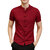 Mens Chinese Style Ethnic Stand Collar Slim Fit Short Sleeve Shirts Tops