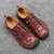 Men Genuine Leather Breathable Hollow Business Casual Sandals