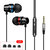 INSMA G86 Metal Bass In-Ear Earphone 4D Stereo Sound Line مراقبة Headphone with Mic for Phones