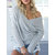 Sexy V Neck Cross Knit Pure Color Women Sweaters