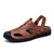 Men Cowhide Hand Stitching Slip Resistant Casual Outdoor Sandals