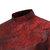 メンズスタイルプリント不規則なスタンドカラーロングスリーブカジュアルシャツ