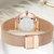 NAVIFORCE 5005 Crystal Casual Style Ladies Wrist Watch Waterproof Stainless Steel Band Quartz Watch