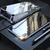 Protecteur d'écran 360 ° Luphie et étui de protection arrière en verre avec étui de protection en adsorption magnétique en métal pour iPhone XR / XS/XS Max / X / 7/7 Plus/8/8 Plus