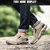 Mens Outdoor Respirável Athletic Shoes Zipper TPR Elastic Slip-on Sport Sneakers