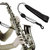 Zebra 1 Pcs Adjustable Saxophone Sax Leather Nylon Padded Neck Strap with Hook Clasp