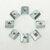 50 pcs M4 T Deslizando Porca Bloco para 2020 Perfil De Alumínio Revestido de Zinco Placa Acessórios de Alumínio