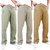 Mens Ethnic Style Cotton Comfy Breathable Straight Leg Casual Pants