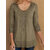 Women Solid Crew Neck Loose Casual Blouse