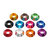 Suleve™ M3AN13 50Pcs M3 Cup Head Hex Screw Gasket Washer Nuts Aluminum Alloy Multicolor