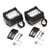 2PCS Tri Row 4Inch 60W LED Work Light Bars Combo Beam Driving Fog Lamp Pure White 6000K for Off Road Vehicle