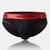 Mens Contrast Color Brief Cotton Comfortable Light Silk Low Rise Waistband Underwear With Pouch