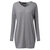 Women Long Sleeve V Neck Casual Loose Solid Pullover Shirt Blouse
