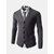 Autumn Winter Fashion Pure Color Knit Cardigan Casual Business Slim Fit V-neck Cardigan