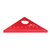 Drillpro ES-1 Aluminum Alloy 45 Degree Marking Angle Ruler with Base Woodworking Triangle Ruler Measuring Scribing Tool