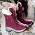 Women Slip Resistant Air Cushion Plush Lining Warm Winter Hiking Shoes Snow Boots