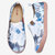 Women Flower Ink Painting Pattern Soft Sole Slip On Casual Flats Loafers