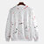 Mens Casual Crew Neck Dot Printing Overhead Long Sleeve Sweatshirt