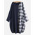 Plus Size Plaid Splice Long Sleeve Big Pockets Casual Dress with Button