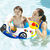 69*65cm Cartoon Children's Swimming Ring Environmentally Friendly Pvc Thickened Inflatable Swimming Ring Steering Wheel Horn Swimming Boat