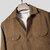 Pana para hombre vendimia Abrigo de bolsillo doble de manga larga en color liso
