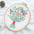 3D Bouquet Flower Printed 3D DIY Embroidery Clothing Fabric Sticker Kits Art Sewing Knitting Package Handmade Beginner DIY