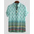 Mens Breathable Ethnic Printed Short Sleeve Henley Shirts