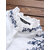 Vintage Embroidery Floral Ruffle Long Sleeve Plus Size Shirts
