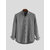 Mens Collarless Shirts Vintage Striped Shirt Grandad Button Down Linen Loose Tops