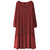 Mulheres Long Sleeve Double Layers Button Assimétrica Vintage Maxi Dress