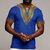 Mens African Ethnic Short Sleeve Top  Dashiki Style Printing Tops T Shirt Blouse