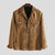 Mens Pure Color Corduroy Double Chest Pocket Long Sleeve Jacket