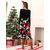 Women Casual Christmas Printed Patchwork Long Sleeve Dress