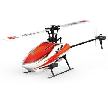 XK K110 Blast 6CH sem Escova 3D6G Sistema RC Helicóptero BNF