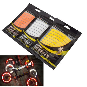 BIKIGHT Children Balance Bike Rim Reflective Stickers 3M Reflective Tape Bike Accessories