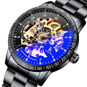 IK COLOURING 98226G Skeleton Dial Automatic Mecánico Relojes Business Style Men Watch