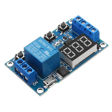6-30V 1 Channel Relay Module Switch Trigger Time Delay Circuit Timer Cycle Adjustable