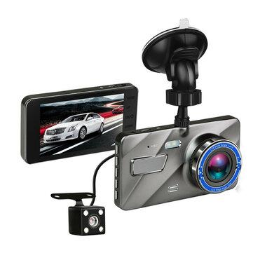 4 pouces HD 1080P caméra double objectif vision nocturne en boucle enregistrement 170 degrés de voiture DVR Vidéo Dash Cam avant enregistreur arrière