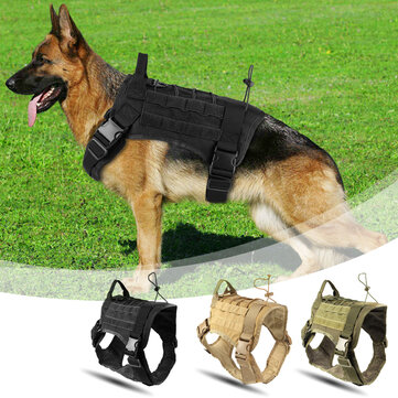 Hunting Dog Military Camouflage Tactical Vest Pet Dog Clothes Outdoor Training Molle Dog Harness