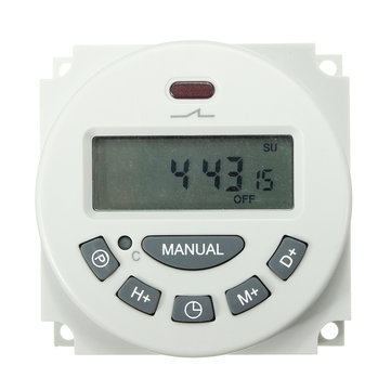 Excellway® L701 12V/110V/220V LCD Digital Programmable Control Power Timer Switch Time Relay