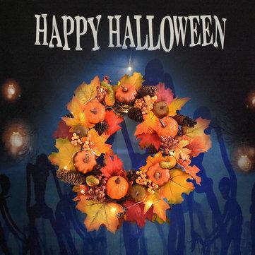 Ação de Graças Maple Folha Garland Pumpkin Wreath Decorações de Natal do Dia das Bruxas